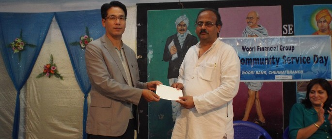 A cheque received by Mr.  Sevalaya Muralidharan