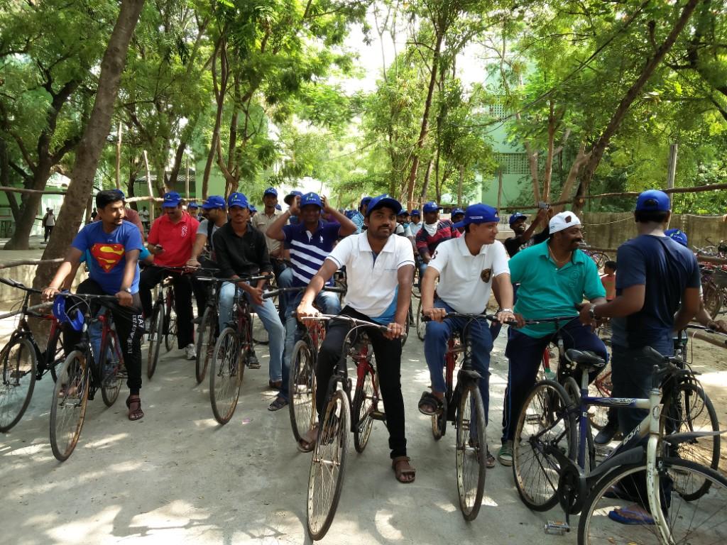 world environment day cycle rally by sevalaya
