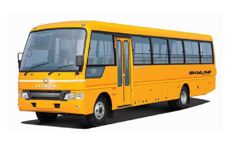 Flagging Off School Bus - Sevalaya